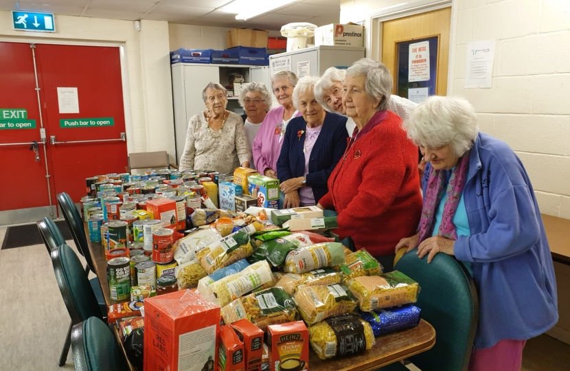 Donated Food to 60plus club